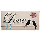 Love  Inspirational Birds Canvas Memo Board in Tan