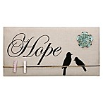 """Hope"" Inspirational Birds Canvas Memo Board in Tan"