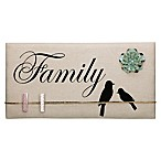 """Family"" Inspirational Birds Canvas Memo Board in Tan"