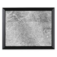 HeadWest Paris Map Framed Mirror