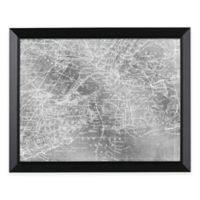 HeadWest New York Map Framed Mirror