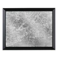 HeadWest New York Map Framed Mirror