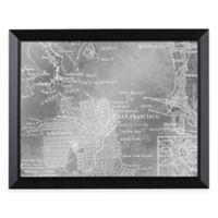HeadWest San Francisco Map Framed Mirror