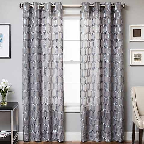 Rochelle Grommet Top Window Curtain Panel Bed Bath Amp Beyond