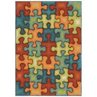 Aria Rugs Kids Court 3-Foot 10-Inch x 5-Foot 1-Inch I'm Puzzled Rug