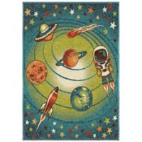 Aria Rugs Kids Court 5-Foot 3-Inch x 7-Foot 6-Inch Galaxy Area Rug in Blue