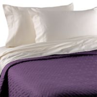 Bellino™ Raso Lightweight Quilted Queen Coverlet in Aubergine
