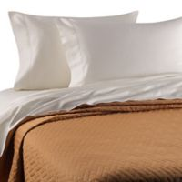 Bellino™ Raso Lightweight Quilted Queen Coverlet in Orange