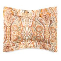 Bellino Fine Linens® Paisley Boudoir Throw Pillow in Orange