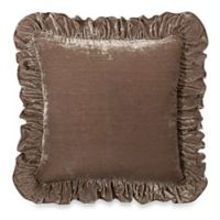 Wamsutta® Vintage Washed Velvet Square Throw Pillow in Linen