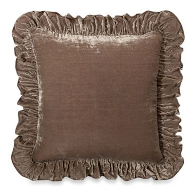 Wamsutta 174 Vintage Washed Velvet Square Throw Pillow Bed