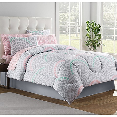 Alexa Comforter Set In Grey