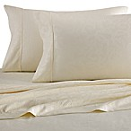 Platinum Collection Jacquard Vine 400-Thread-Count Queen Sheet Set in Ivory