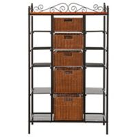 Southern Enterprises Rancho 5-Drawer Baker's Rack