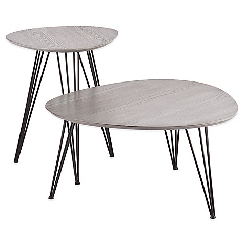 image of Holly& Martin® Bannock 2-Piece Table Set in Matte Grey