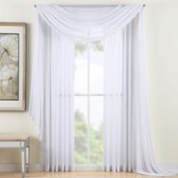 Reverie 63-Inch Sheer Window Curtain Panel in White