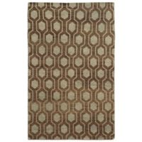 Tommy Bahama Maddox Geometric 5-Foot x 8-Foot Rug in Brown
