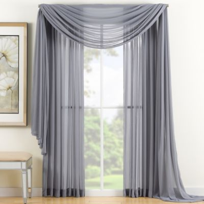 reverie 95inch sheer window curtain panel in grey