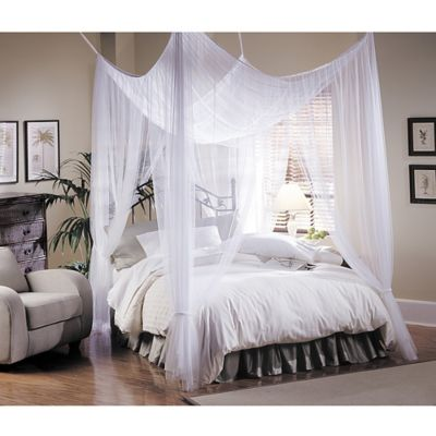 Canopy Bed.Majesty White Large Bed Canopy