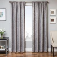 Halo 96-Inch Window Curtain Panel in Grey/Blue