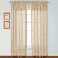 Savannah Rod Pocket 63-Inch Window Curtain Panel in Taupe