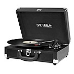 Victrola™ 3-Speed Bluetooth® Portable Suitcase Turntable in Black