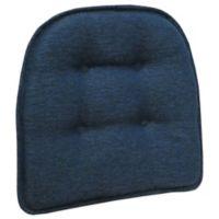 Klear Vu Tufted Omega Gripper® Chair Pad in Indigo