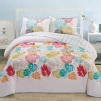 Leaf Organic Cotton Reversible Full/Queen Duvet Cover Set