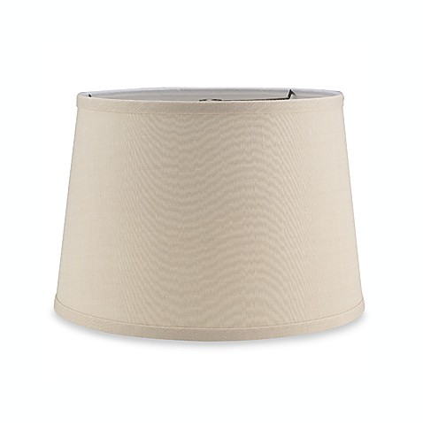 Mix and match linen drum shaped lamp shade bed bath beyond for Drum shaped lamp shades