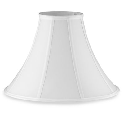 Buy bell shaped lamp shade from bed bath beyond mix match large 16 inch bell lamp shade in white mozeypictures Choice Image