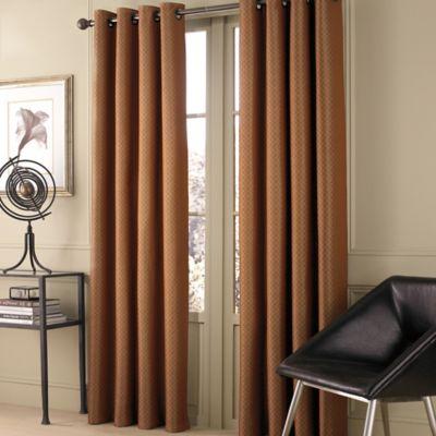 valeron stradivari 120 inch room darkening window curtain panel in rust - Rust Color Curtains