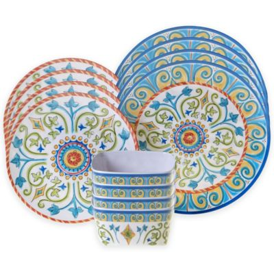 certified tuscany 12piece dinnerware set - Dishware Sets