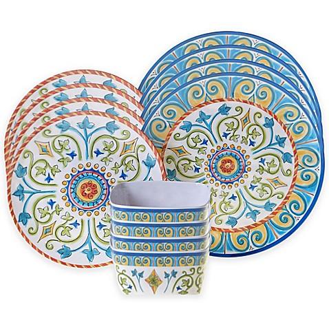 Certified International Tuscany 12-Piece Dinnerware Set - Bed Bath ...