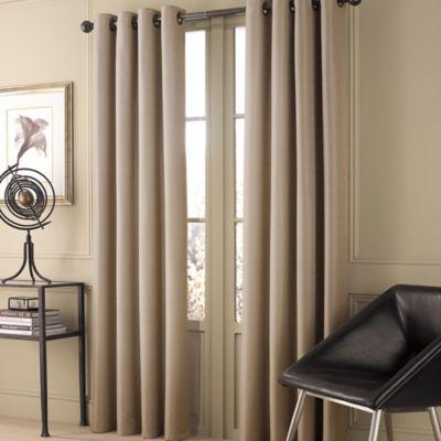valeron stradivari 63inch window curtain panel in natural - 63 Inch Curtains