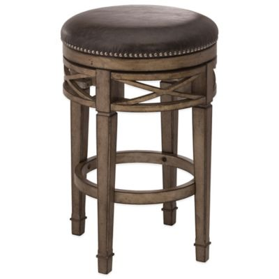 Hillsdale Chesterfield Wood Swivel Backless Counter Stool in Silver  sc 1 st  Bed Bath u0026 Beyond & Buy Swivel Counter Stool from Bed Bath u0026 Beyond islam-shia.org