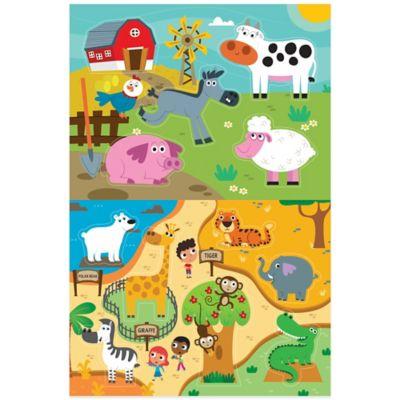 Bath Toys U003e Prince Lionheart® 2 Pack Zoo/Farm Bath Puzzle