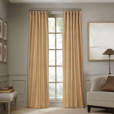valeron estate 95inch silk window curtain panel in honey