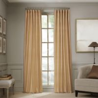 Valeron Estate 84-Inch Silk Window Curtain Panel in Honey