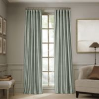 Valeron Estate 84-Inch Silk Window Curtain Panel in Blue