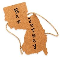 Thirstystone® New Jersey State Shaped Cork/Rope Trivet in Natural