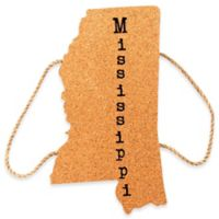 Thirstystone® Mississippi State Shaped Cork/Rope Trivet in Natural