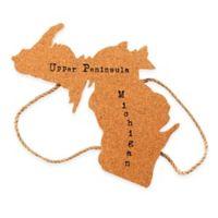 Thirstystone® Michigan Upper Peninsula Shaped Cork/Rope Trivet in Natural