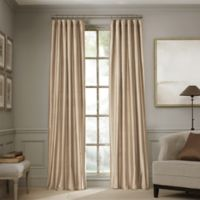 Valeron Estate 84-Inch Silk Window Curtain Panel in Taupe