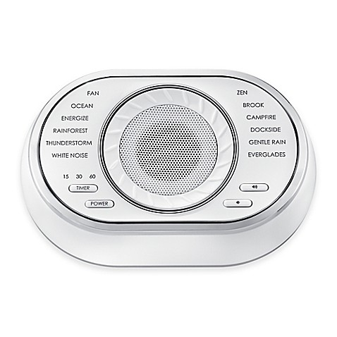 Homedics sleep solutions sound soother bed bath beyond for Bathroom noise cancellation