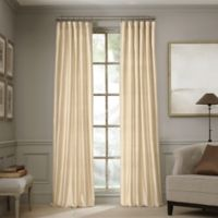 Valeron Estate 120-Inch Silk Window Curtain Panel in Pearl