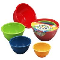 4-Piece Multicolor Mix & Serve Bowl Set