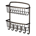 InterDesign® York Lyra 2-Tier Wall Mount Mail & Key Rack in Bronze