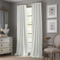 Valeron Estate Cotton Linen 120-Inch Window Curtain Panel in White