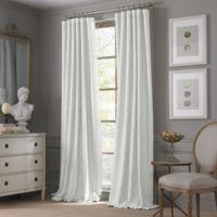 Valeron Estate Cotton Linen 108-Inch Window Curtain Panel in White