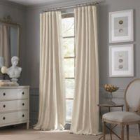 Valeron Estate Cotton Linen 108-Inch Window Curtain Panel in Sand